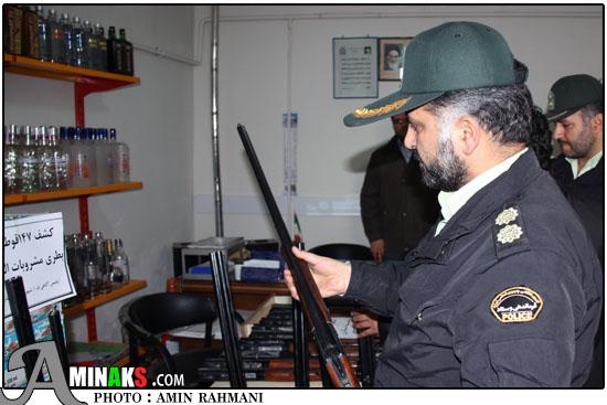 سرهنگ رحمانی فرمانده نیروی انتظامی شهرستان تاکستان